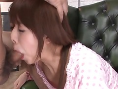 Lucky man acquires rapturous oral stimulation from hot Oriental playgirl