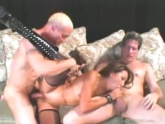 Nasty asian Keeani Lei gets her pussy pounded whilst sucking on a hard prick